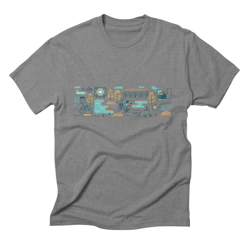 A Day in the Life Men's Triblend T-Shirt by bellyup's Artist Shop