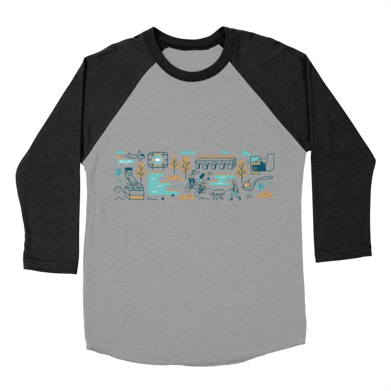 A Day in the Life Women's Baseball Triblend Longsleeve T-Shirt by bellyup's Artist Shop