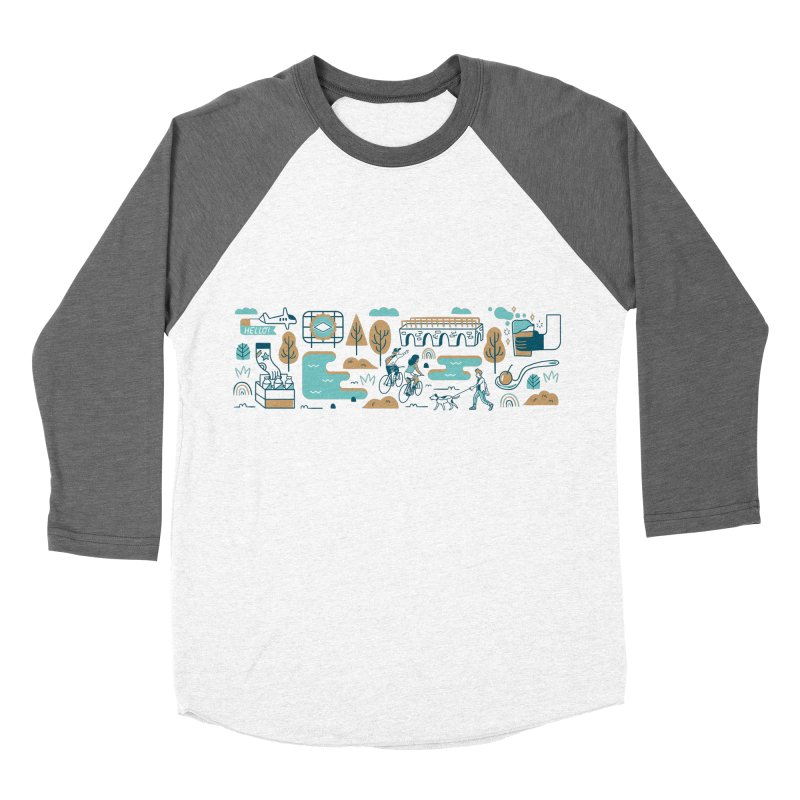 A Day in the Life Men's Baseball Triblend Longsleeve T-Shirt by bellyup's Artist Shop