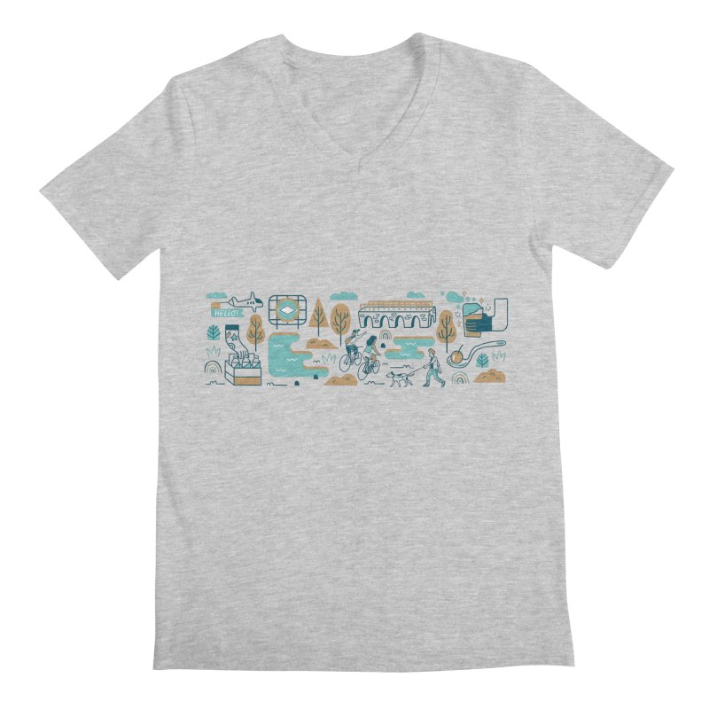 A Day in the Life Men's V-Neck by bellyup's Artist Shop