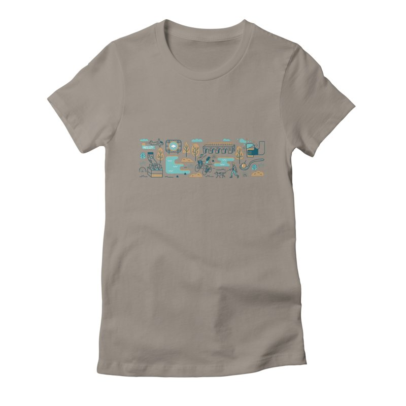 A Day in the Life Women's Fitted T-Shirt by bellyup's Artist Shop