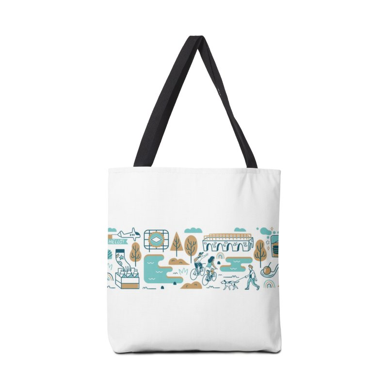 A Day in the Life Accessories Tote Bag Bag by bellyup's Artist Shop