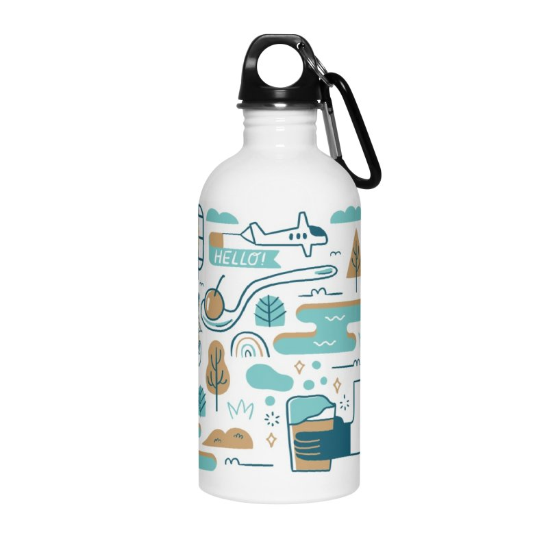 A Day in the Life Accessories Water Bottle by bellyup's Artist Shop