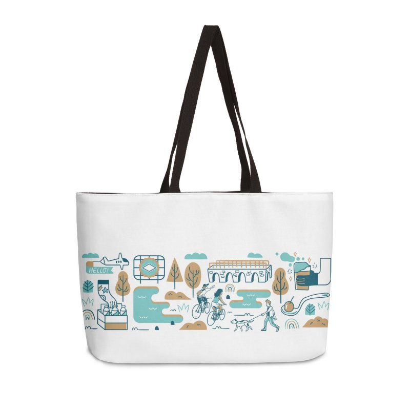 A Day in the Life Accessories Bag by bellyup's Artist Shop