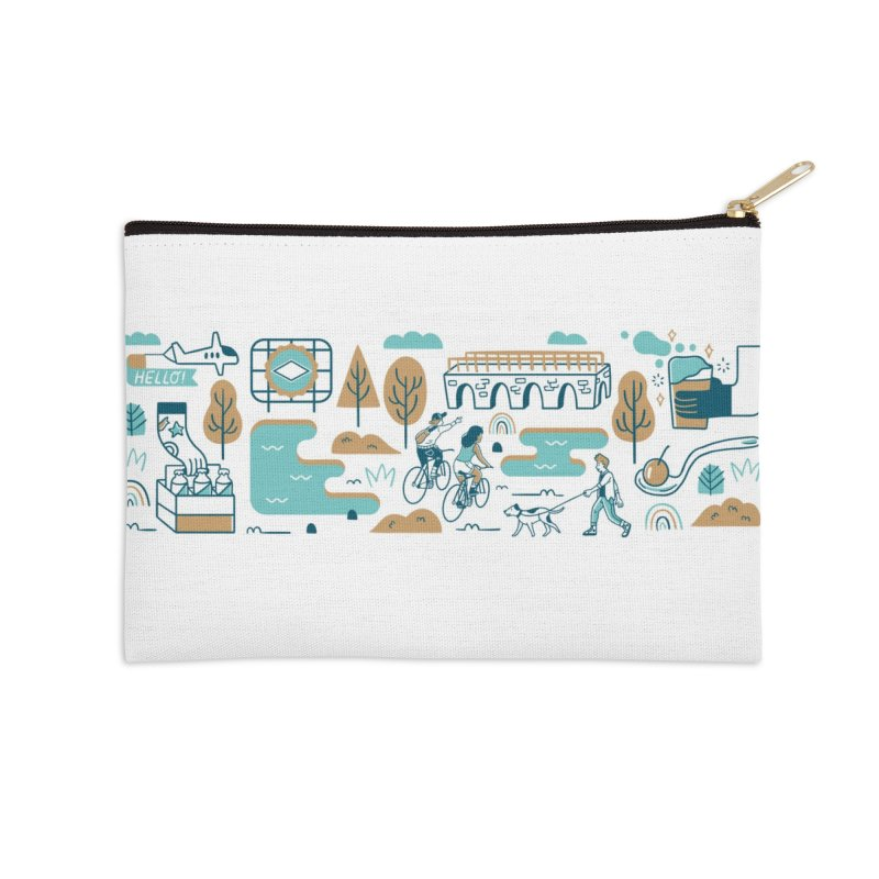 A Day in the Life Accessories Zip Pouch by bellyup's Artist Shop