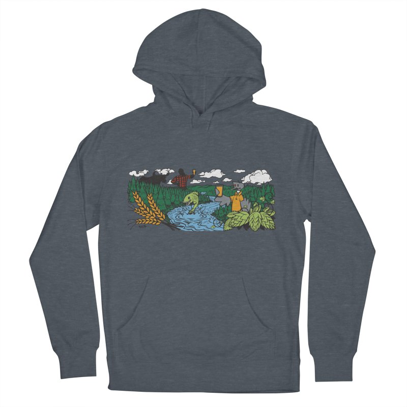 Heaven Must Be Near T Men's French Terry Pullover Hoody by bellyup's Artist Shop