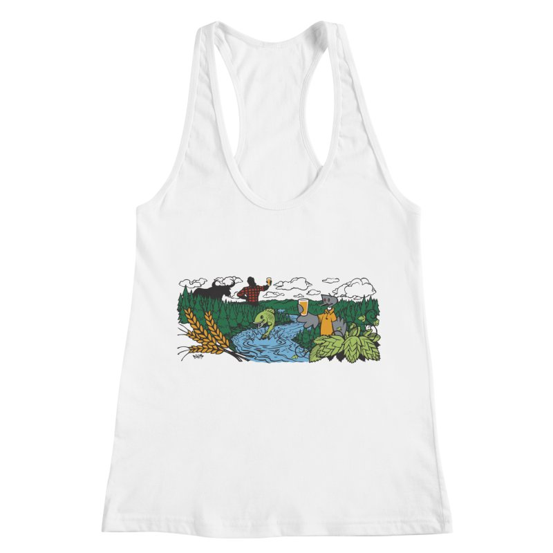 Heaven Must Be Near T Women's Racerback Tank by bellyup's Artist Shop