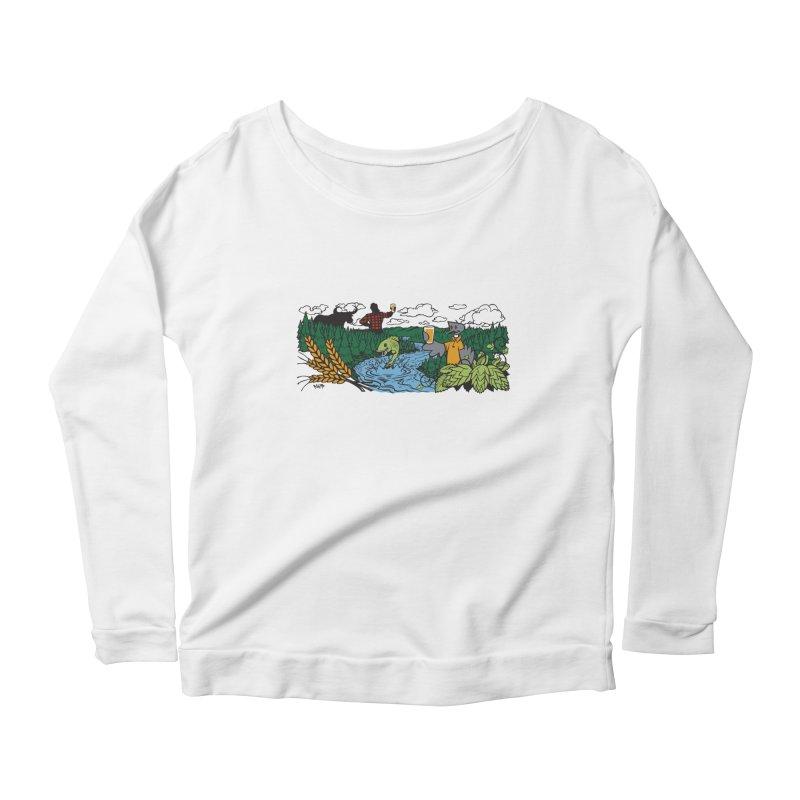 Heaven Must Be Near T Women's Scoop Neck Longsleeve T-Shirt by bellyup's Artist Shop
