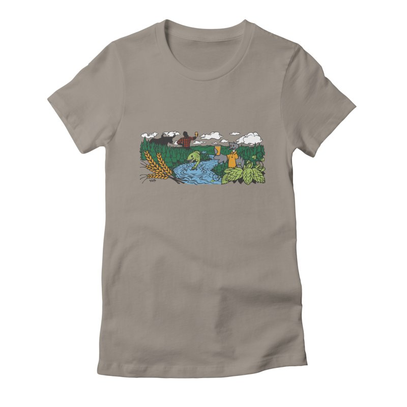 Heaven Must Be Near T Women's Fitted T-Shirt by bellyup's Artist Shop