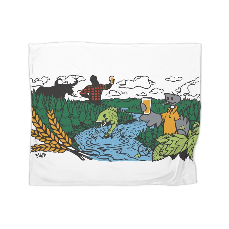 Heaven Must Be Near Home Fleece Blanket Blanket by bellyup's Artist Shop