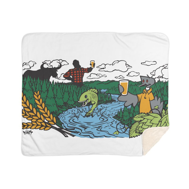 Heaven Must Be Near Home Blanket by bellyup's Artist Shop