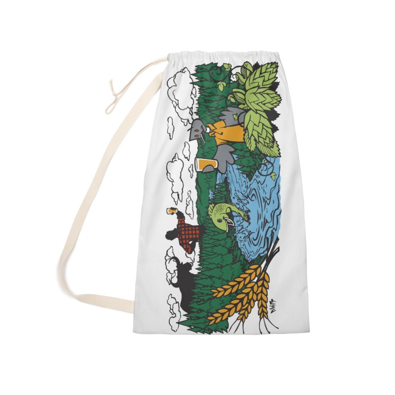 Heaven Must Be Near Accessories Laundry Bag Bag by bellyup's Artist Shop