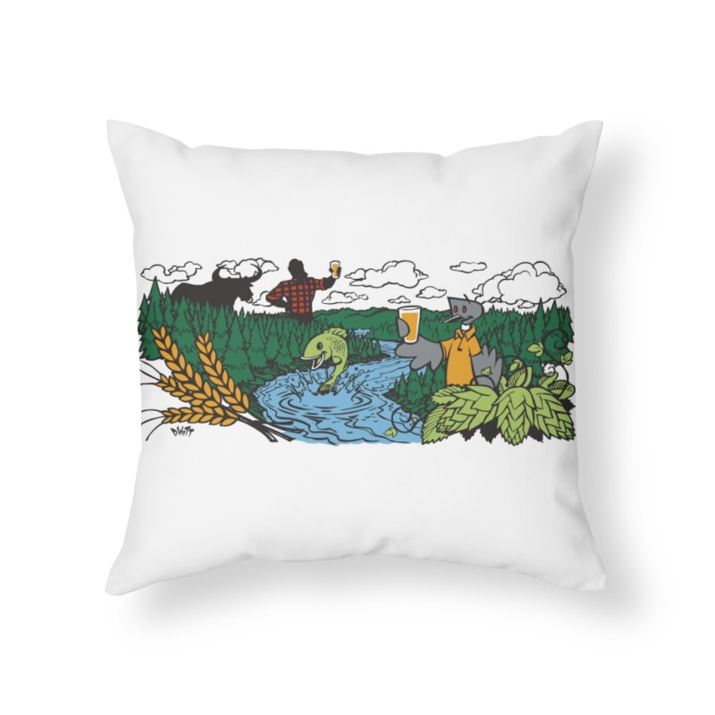 Heaven Must Be Near Home Throw Pillow by bellyup's Artist Shop