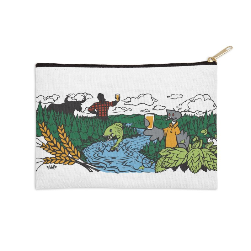 Heaven Must Be Near Accessories Zip Pouch by bellyup's Artist Shop