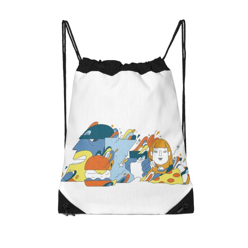 Color Me Impressed Accessories Drawstring Bag Bag by bellyup's Artist Shop