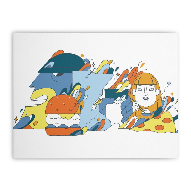 Color Me Impressed Home Stretched Canvas by bellyup's Artist Shop