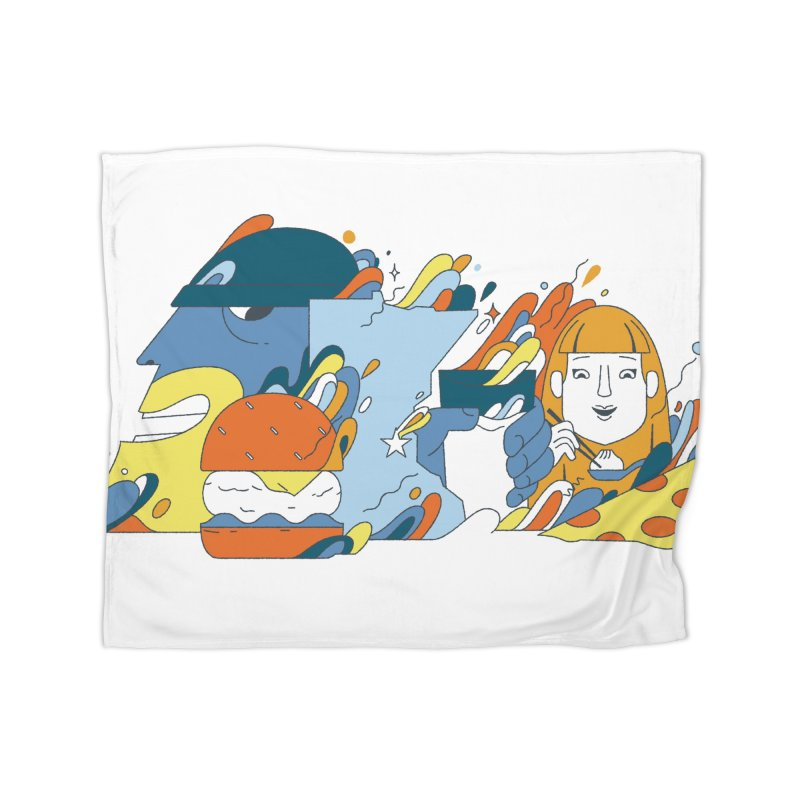 Color Me Impressed Home Fleece Blanket Blanket by bellyup's Artist Shop
