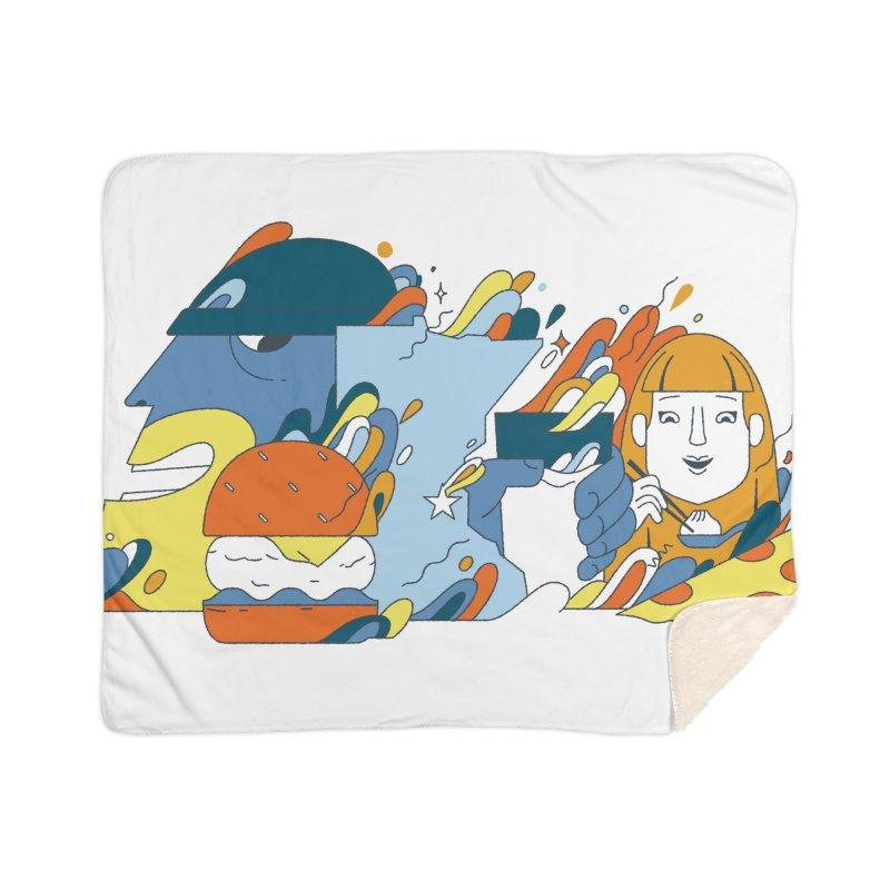 Color Me Impressed Home Sherpa Blanket Blanket by bellyup's Artist Shop