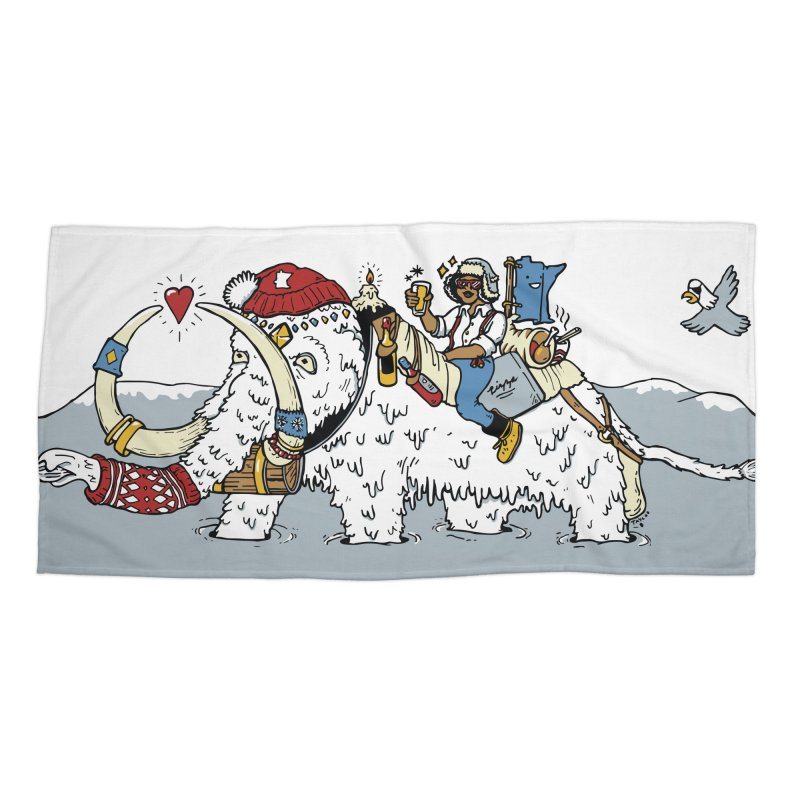 Knocked Out Loaded Accessories Beach Towel by bellyup's Artist Shop