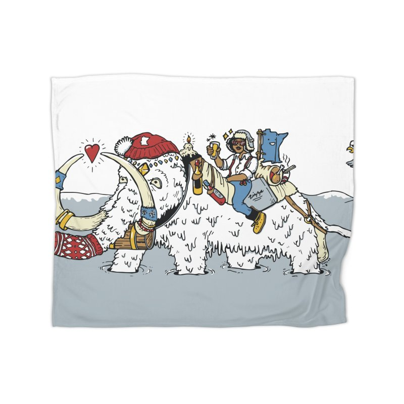 Knocked Out Loaded Home Fleece Blanket Blanket by bellyup's Artist Shop