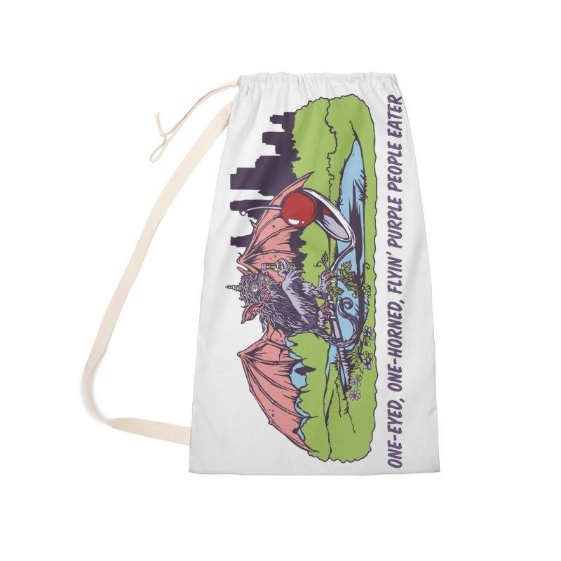 Flyin' Purple People Eater Accessories Bag by bellyup's Artist Shop