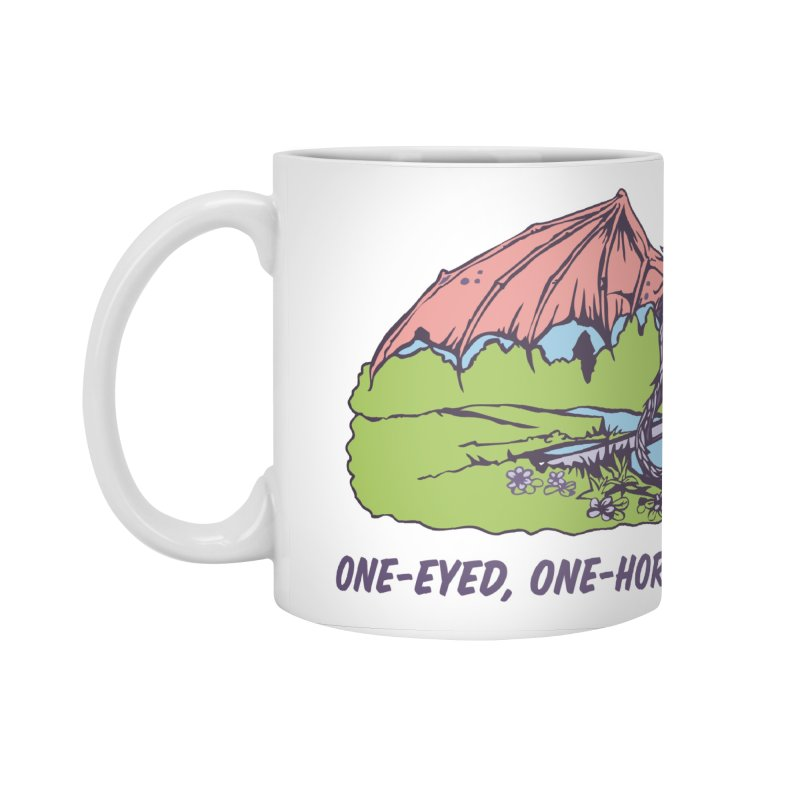 Flyin' Purple People Eater Accessories Standard Mug by bellyup's Artist Shop