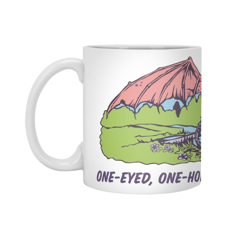 Flyin' Purple People Eater Accessories Mug by bellyup's Artist Shop