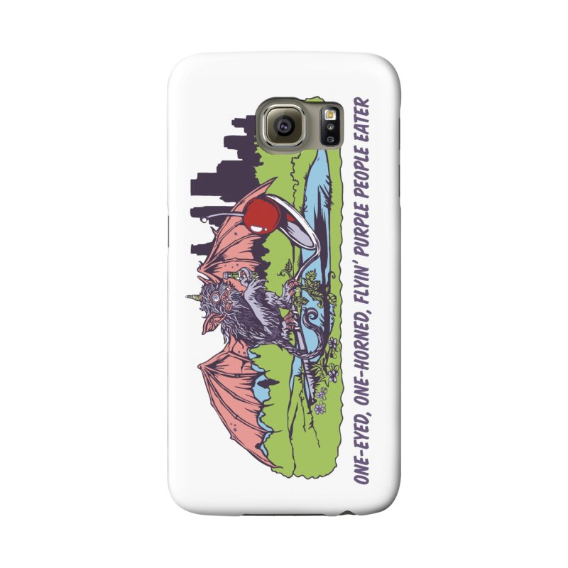Flyin' Purple People Eater Accessories Phone Case by bellyup's Artist Shop