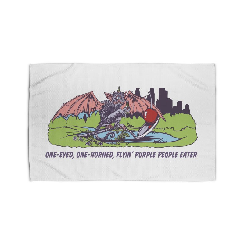 Flyin' Purple People Eater Home Rug by bellyup's Artist Shop