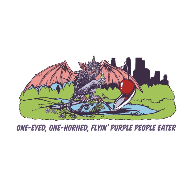 Flyin' Purple People Eater Accessories Bag by bellyup's Artist Shop