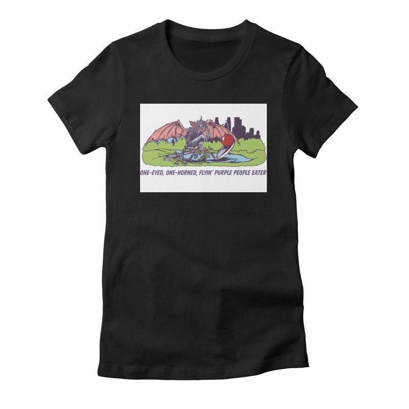 Flyin' Purple People Eater Women's T-Shirt by bellyup's Artist Shop