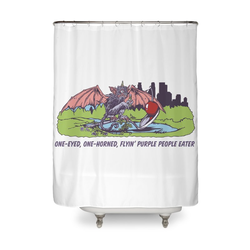 Flyin' Purple People Eater Home Shower Curtain by bellyup's Artist Shop