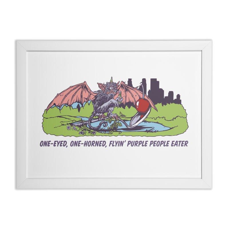 Flyin' Purple People Eater Home Framed Fine Art Print by bellyup's Artist Shop