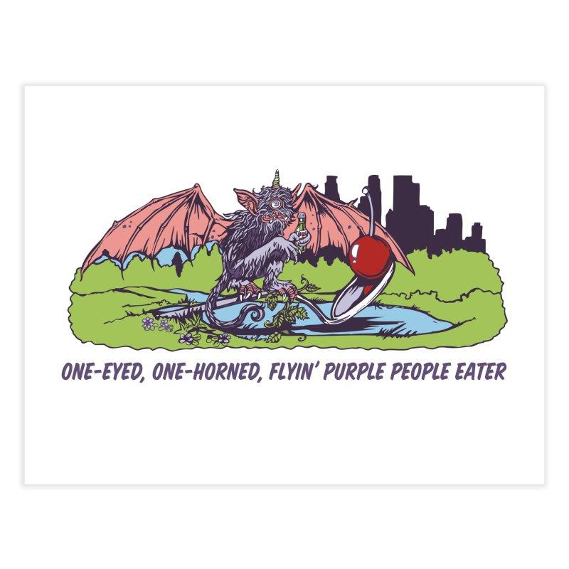 Flyin' Purple People Eater Home Fine Art Print by bellyup's Artist Shop