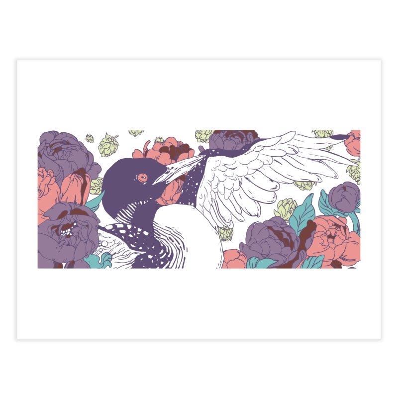 Hoppy Loon Home Fine Art Print by bellyup's Artist Shop