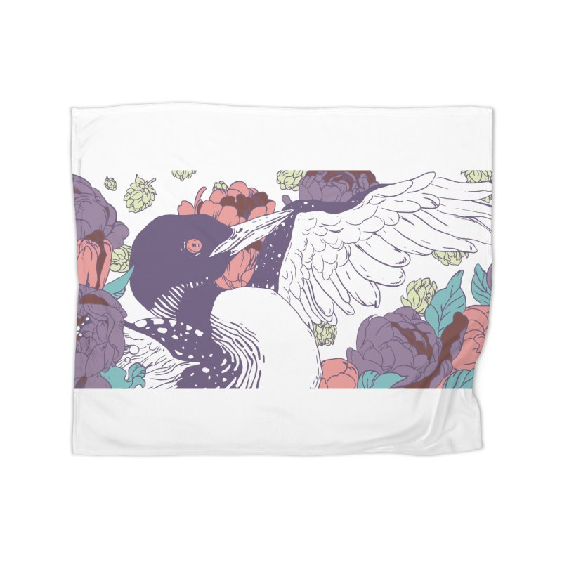 Hoppy Loon Home Fleece Blanket Blanket by bellyup's Artist Shop
