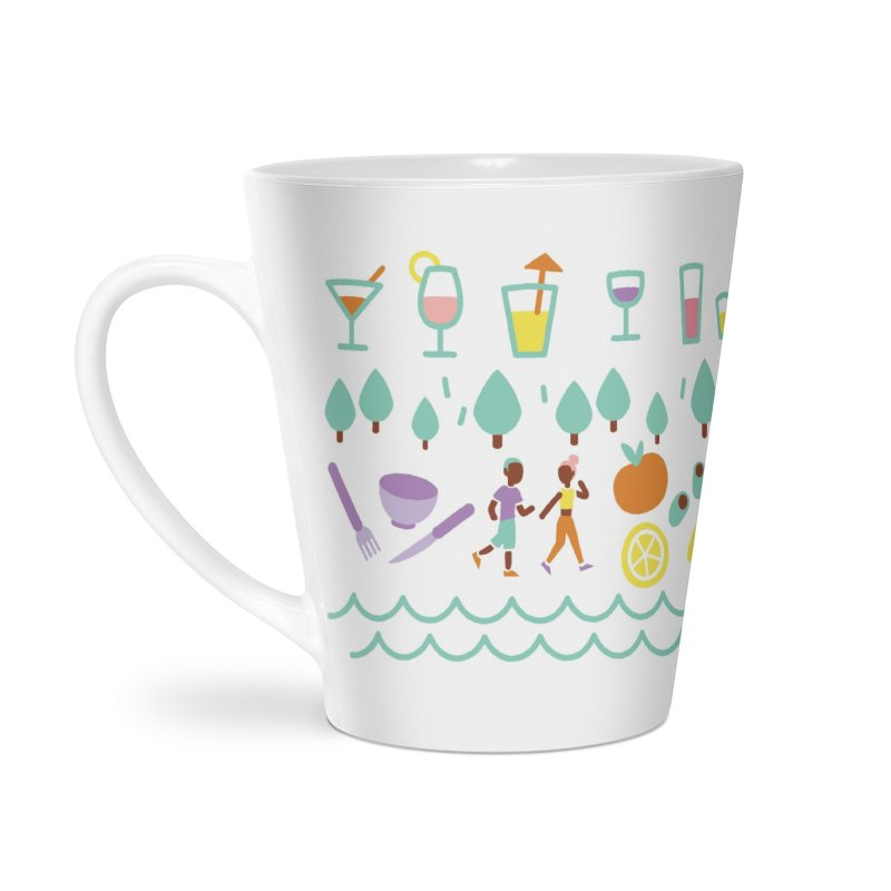 Caribe del Norte Accessories Latte Mug by bellyup's Artist Shop