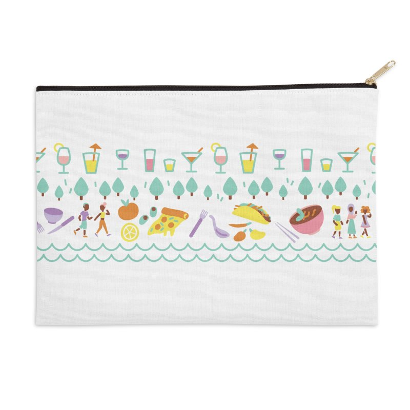 Caribe del Norte Accessories Zip Pouch by bellyup's Artist Shop