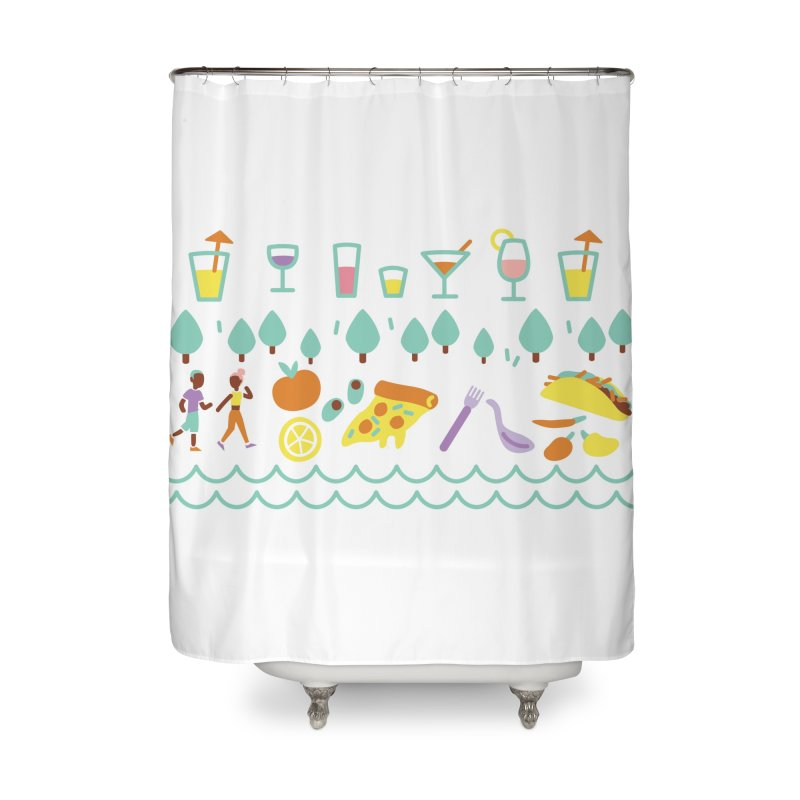 Caribe del Norte Home Shower Curtain by bellyup's Artist Shop