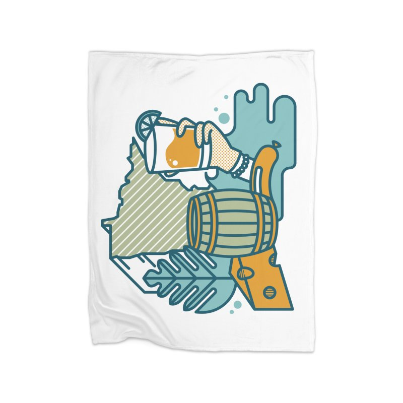 Here Comes A Regular Home Blanket by bellyup's Artist Shop
