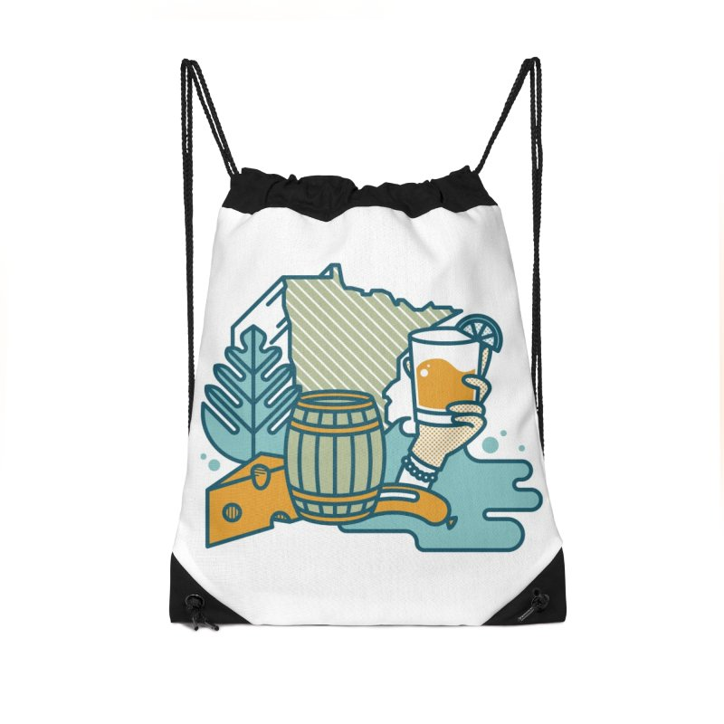 Here Comes A Regular Accessories Drawstring Bag Bag by bellyup's Artist Shop