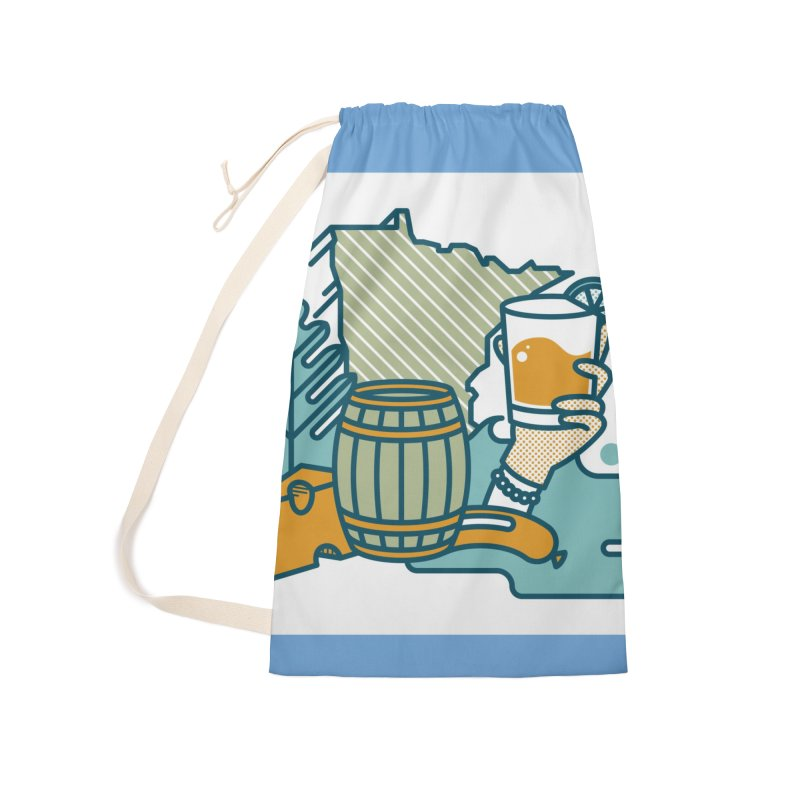 Here Comes A Regular Accessories Laundry Bag Bag by bellyup's Artist Shop