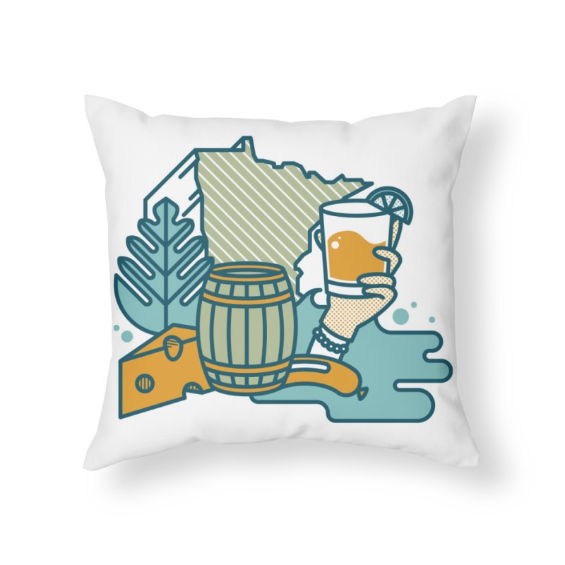 Here Comes A Regular Home Throw Pillow by bellyup's Artist Shop