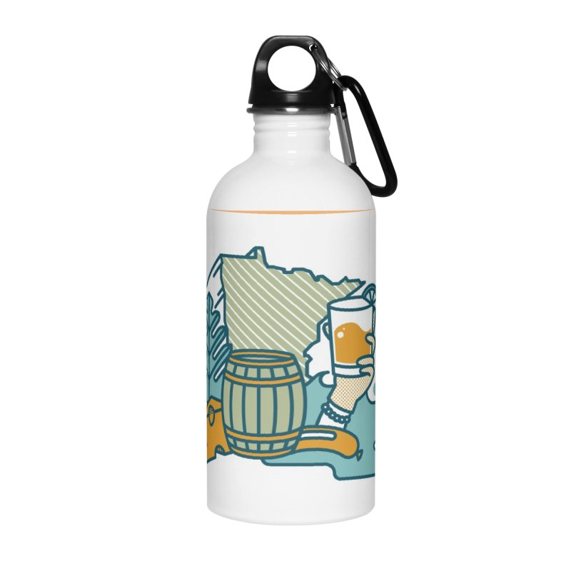 Here Comes A Regular Accessories Water Bottle by bellyup's Artist Shop