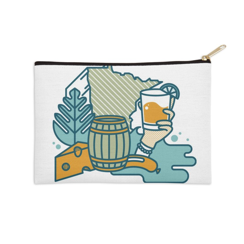 Here Comes A Regular Accessories Zip Pouch by bellyup's Artist Shop