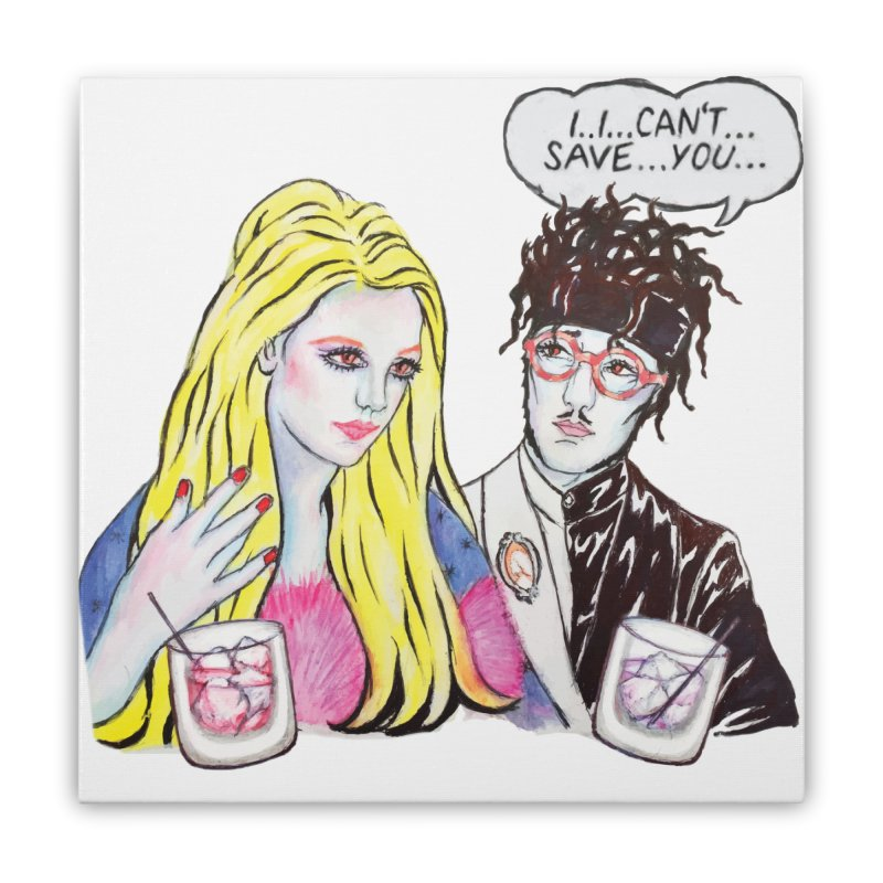 I can't save you, Britney. (Products) Home Stretched Canvas by bellyup's Artist Shop