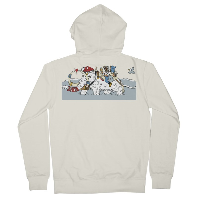 Knocked Out Loaded (Apparel) Men's French Terry Zip-Up Hoody by bellyup's Artist Shop