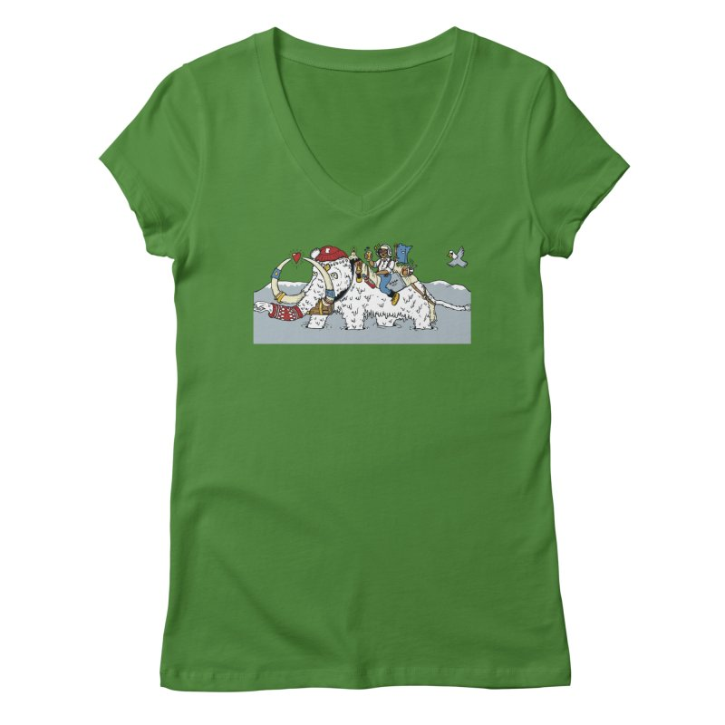 Knocked Out Loaded (Apparel) Women's Regular V-Neck by bellyup's Artist Shop