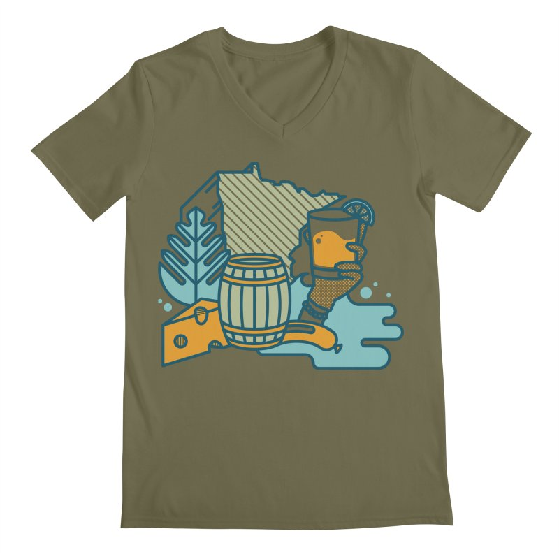 Here Comes a Regular (Apparel) Men's Regular V-Neck by bellyup's Artist Shop