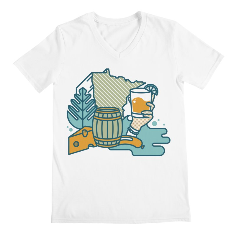 Here Comes a Regular (Apparel) Men's V-Neck by bellyup's Artist Shop